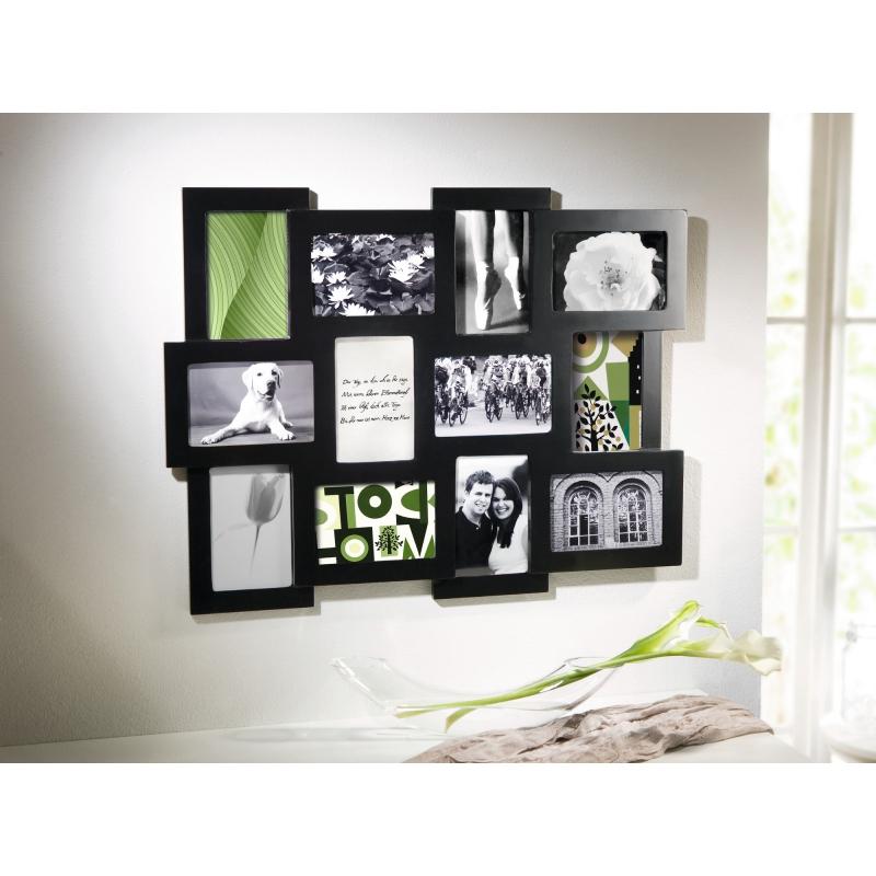 bilderrahmen schwarz f r 12 bilder. Black Bedroom Furniture Sets. Home Design Ideas