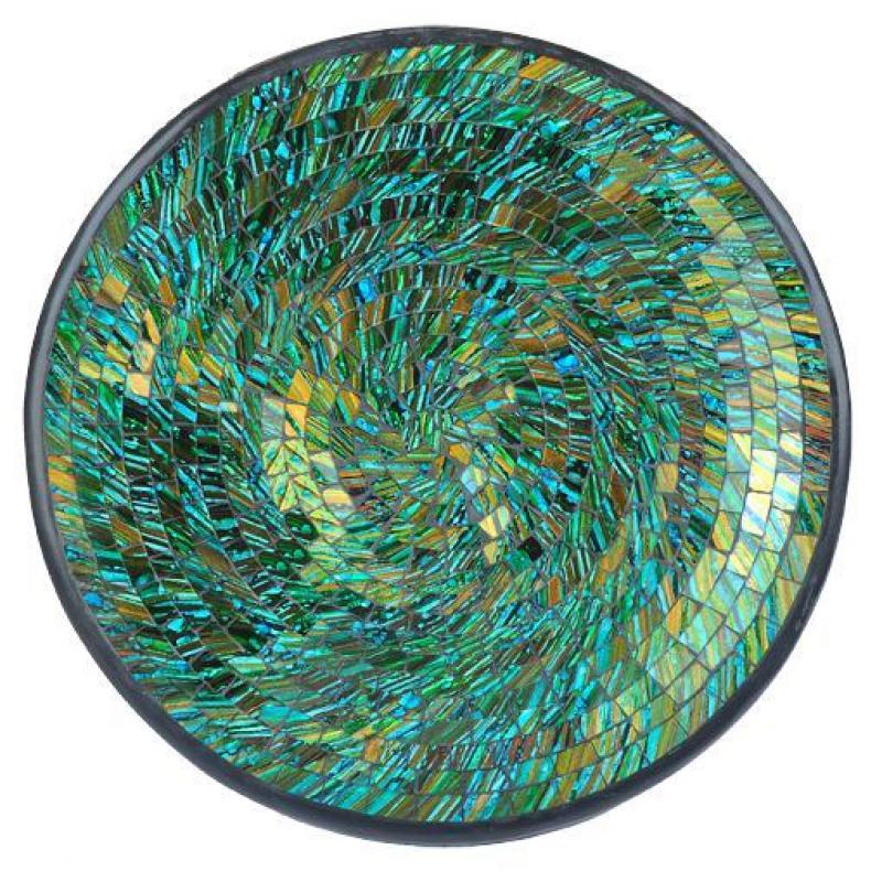 Mosaik schale rund 37cm blau gr n for Mosaikbilder selber machen