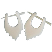 Ohrringe aus Bone Karim
