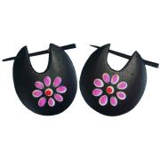 Ohrringe aus Holz Flora 2