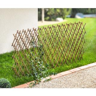 Weiden-Zaun zum Ausziehen