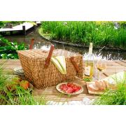 Edler Picknickkorb, honigfarben