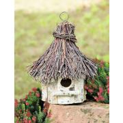Vogelhaus aus Birkenholz