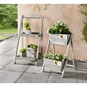 Pflanz-Regal Shabby Old Style mit 2 Blumenkästen