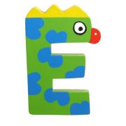 """Bunter Holzbuchstabe, Letter """"E"""""""