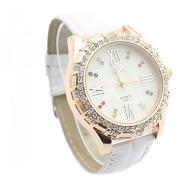 Damen Diamant Armbanduhr, weiß