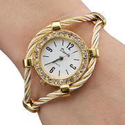 Damen Kristall Armbanduhr