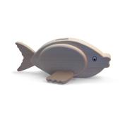 Spardose Fisch aus Holz