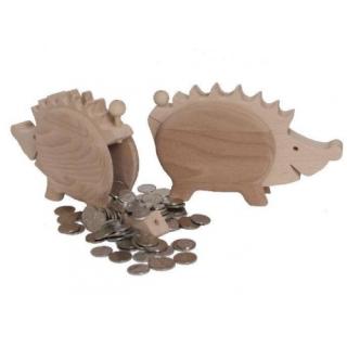 Spardose Igel aus Holz