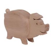 Spardose Schwein aus Holz