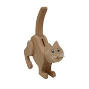 Spardose Katze aus Holz