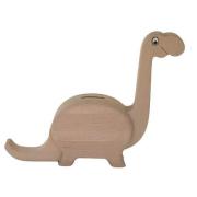Spardose Brontosaurus aus Holz
