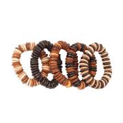 Halsband aus dicken Cocosperlen sortiert im 5er Set