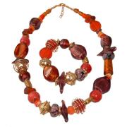 Halsband lila/orange
